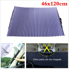 Car Retractable Front Rear Windshield 46x120cm Sunshade Shade UV Visor Curtain