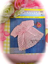 "Vintage Crochet Pattern Baby Girls ""Lattice"" Look Dress 2 sizes  JUST £1.99"