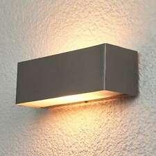 Außenwandleuchte Alicja Lampenwelt Eckig Edelstahl Licht Oben Unten Wandlampe
