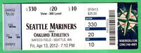 4/13/12 MARINERS OPENING DAY FULL TICKET VS. OAK A'S