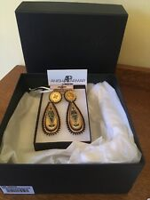 Gorgeous Statement Earrings! Anisha Parmar Earrings Handcrafted Wood & Leather