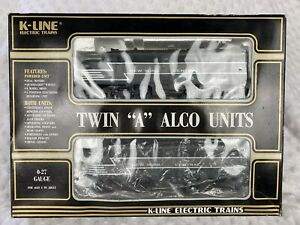 """K-Line Electric Trains Twin """"A"""" Alco Units 0-27 Gauge K-2114 New York Central"""