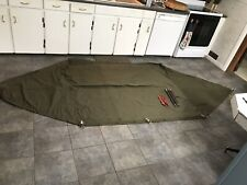 US ARMY Original Half Pup Tent, 1/2 Shelter Only- 1963 Vietnam Era See Pictures!