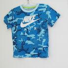Nike Little Boys GFX Camo Short Sleeve Tee Blue Lagoon Sz 4 - NWT