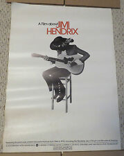 Original 1973 A Film About Jimi Hendrix Movie Promo Poster