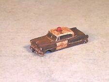 HO Rusted Out 1952 Black & White Chevy Police Car, #8016