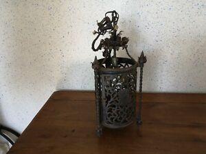 Antique Lantern Chandelier Forged Iron