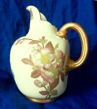 Royal Worcester Blush Ivory Flat Back Jug #1094 Hand Painted 1887 As Is