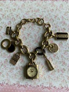 Costume Jewellery Chunky DKNY Charm Chain Watch Bracelet