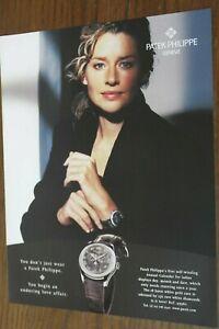 PATEK PHILIPPE Watch Magazine Print Ad 1 pg Original Vintage