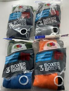 FRUIT OF THE LOOM BOXER BRIEFS BOYS  12 PK ASSORTED COLORS