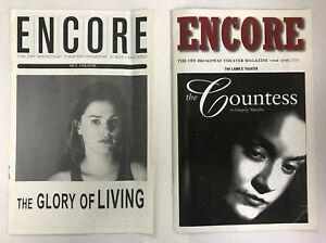 Lot 2 Encore Playbill Program The Glory of Living The Countess 2000 2001