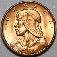 1961 Panama 1 Centesimo Choice UNC Penny Urraca Coin (20090502R)