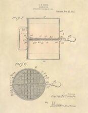 Vintage Baker Flour Sifter US Patent Art Print - Antique Vintage Baker - 767