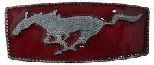 Fron Hofer cintura fibbia Mustang rosso/argento, 4cm, Mustang BUCKLE, FIBBIA CINTURONE