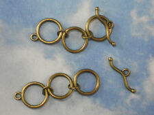 5 sets 3 Ring Extender Toggle & Clasps Bronze Tone Finish Closures #P1914