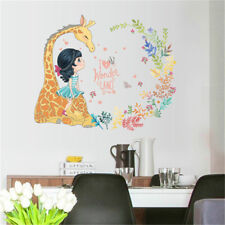 Riding Giraffe Girl Room Home Decor Removable Wall Sticker Decal Decoration