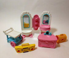 Fisher-Price 1990s Loving Family Dollhouse Furniture Shop stuff Cart Mirrors