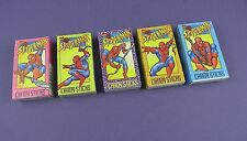Set of 5 Spiderman Candy Stick Boxes & Contents 2002 by World Confectionary