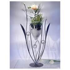 Formano Bodenvase Metall 86cm Eisen Blume mit Glas