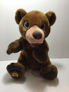 "Disney Brother Bear Tumble n' Laugh Koda 16"" Talking Plush Stuffed Animal EUC"