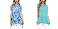 NEW Fever Womens Double Layer Tunic Tank Top