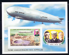MADAGASCAR 1976 DELUXE PROOF OF SCT C160 S/S, AVIATION ZEPPELIN'S 75TH ANNIV