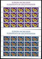 Liechtenstein Kleinbögen MiNr. 579-80 postfrisch MNH Cept (579