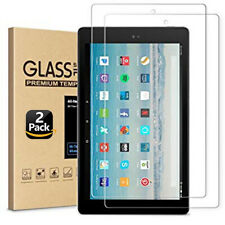 "2PC Genuine Tempered Glass Screen Protector For Amazon Kindle Fire HD 10"" 2017"