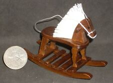 Rocking Horse Wooden Walnut Children Toy 1:12 Cowboy Cowgirl Christmas CLA10378