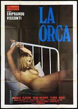 LA ORCA MANIFESTO CINEMA FILM RENA NIEHAUS SEXY POLIZIESCO 1976 MOVIE POSTER 4F