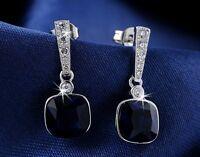 925 Sterling Silver Stud Earrings W/Swiss Cubic Zirconia Crystal (E807-39)
