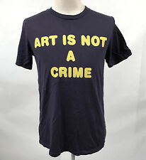 Local Celebrity Men's T-Shirt Art is Not a Crime Indigo Size XL NEW