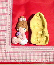Baby Girl Silicone Push Mold A823 Candy Chocolate Fondant Wax Soap Baby Shower