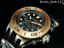Invicta Men 52mm Subaqua Diver Swiss Chronograph Navy Stealth Rose Tone SS Watch