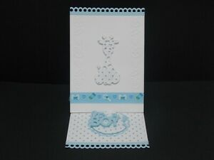 Handmade New Baby - beautifully crafted 3d and Embossed Baby Boy Card