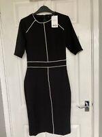 BNWT Next Women's Black Formal Bodycon Midi Dress Size 8T