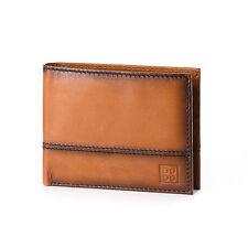 DUDU Portafoglio uomo in pelle MARRONE C. porta carte di credito e documenti