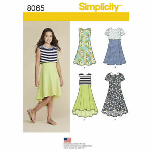 SIMPLICITY Sewing Patterns~8065 Children Child Girl Teens Dresses  8½-16½