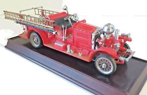 1922 Ahrens-Fox R-K-4 Pumper, 1:32, Stand, COA, Hang Tag, Franklin Mint