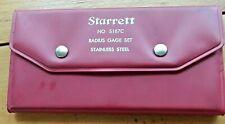 Starrett S167c Stainless Steel Radius Gage Set