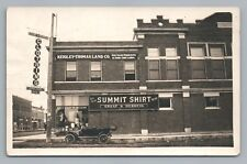 Wells MN Clothing Store & Land Office RPPC Rare Antique Car—Faribault County
