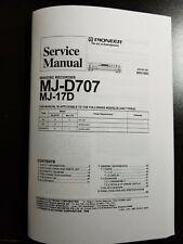 SERVICE MANUAL PIONEER MJ-D707/MJ-17D MINIDISC RECORDER(COPY) IN BOOKLET FORMAT