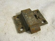 """New listing Antique Victorian Age Lock Plunger Mechanism Spring Loaded w Key Hole 2"""" x 1.5"""""""