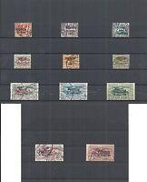 Oberschlesien 1920,  Einzelmarken zur Auswahl aus MiNrn. 30 - 40 o, gestempelt o