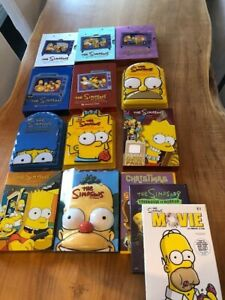 Simpsons DVDs -Seasons 1-11 including Collector's Editions and specialty boxes.