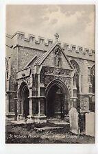 ST. NICHOLAS PORCH, CHISWICK PARISH CHURCH: London postcard (C11207)