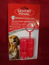 Sentry Petrodex Deluxe Finger Toothbrush for Cats & Dogs ...New..Ships Fast