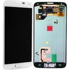PER DISPLAY LCD assemblato Samsung SM-G900F Galaxy S5 BIANCO touch vetro schermo