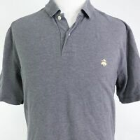 BROOKS BROTHERS SHORT SLEEVE GRAY COTTON PERFORMANCE POLO SHIRT MENS SIZE XL
